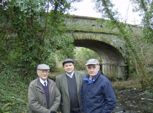 Cllr Enright with local campaigners to preserve railway infrastructure
