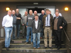 Attached is a photograph of Cllr Cadogan Enright (right), Ulster Farmers Union representative Elliot Bell and Paddy Flynn with some of the many local farmers attending the meeting on Wednesday 6th June 2012 in Down District Council