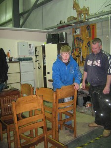 Apprentices being trained in joinery