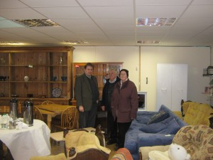 Cllr Cadogan Enright with Tom McRoberts manager of the Restore Centre and Killikeagh Environmentalist Barbara Haig