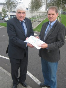 Cllrs Dermot Curran and Cadogan Enright on the Downshire Complex