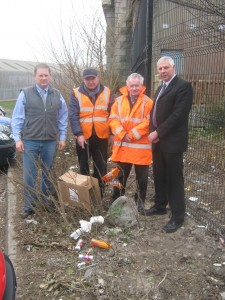 From the Left Cllr Cadogan Enright, Tommy Mathers, John Wilson and Cllr Robert Burgess