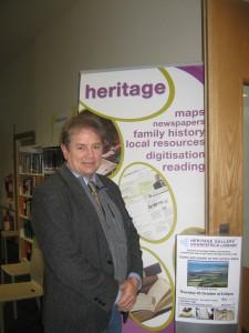 Cllr Enright at Downpatrick Library