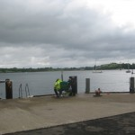 from The New Quay looking E to the lough (out of )