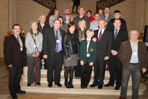 Cllr Cadogan Enright with Downe Hospital Campaigners and Deputy First Minister at Stormont last night