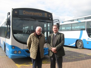 Dick Shannon & Cllr Cadogan Enright visiting Translink