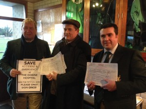 Rugby Club gathers signatures for the Down accident and emergency