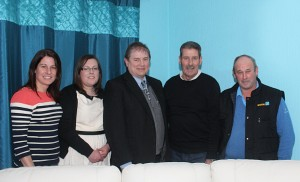 KIlclief Residents Committee R-L Eamonn Quinn, Maurice Denvir, Claire Hanna with Cllr Enright centre