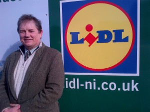 Councillor Cadogan Enright at LIDL Downpatrick