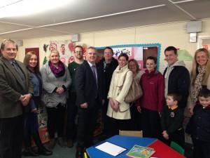 Cllr Cadogan Enright with MLA John McCallister with Ardglass and Killough parents