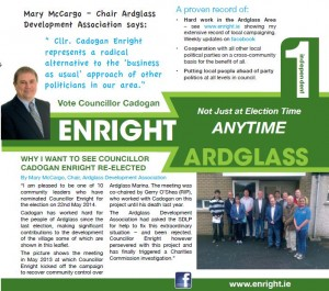 Front of Ardglass canvass leaflet