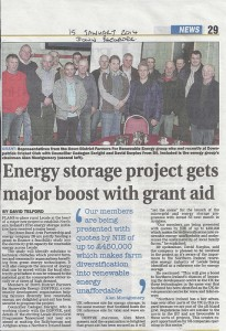 DDFFRE and David Surplus from B9 meet with Cllr Cadogan Enright over a new energy storage project fund worth up to a possible £450,000 for the Lecale area.