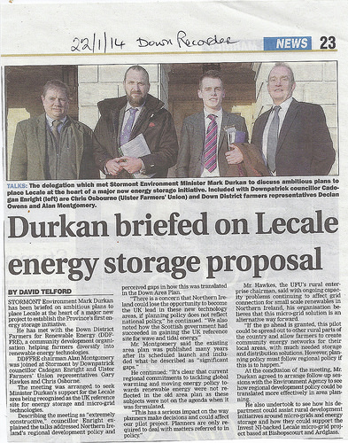 Durkan briefed on Lecale energy proposal in Stormont